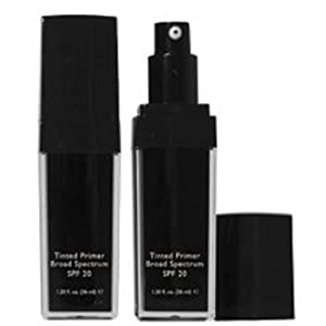 Tinted Face Primer Broad Spectrum SPF 20 - Demi-Matte Finish - Brightens Provides Anti Wrinkle Benefits - and Protects the Skin From Harm UV Rays - Leaving the Complexion Smooth (Medium)