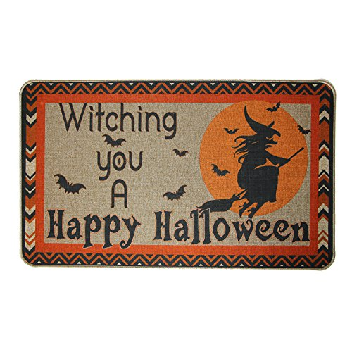 Cotton And Linen Printed Rubber Backed Doormat Absorbent Non-slip 30