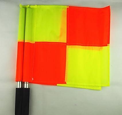 Banderines de /árbitro Linier de F/útbol con Barra de Metal y Mango de Espuma Dioche Bandera de F/útbol con Bolsa de Transporte