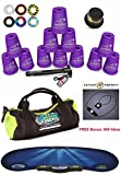 Speed Stacks Custom Combo Set - The Works: 12 PURPLE 4'' Cups, Cup Keeper, Quick Release Stem, Pro Timer, Gen 3 Mat, Snap Tops, Gear Bag + FREE Bonus: Active Energy Power Balance Necklace $49 Free