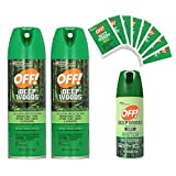 Off! Deep Woods Dry Insect Repellent - Bug Spray 3 Pack & Towelettes