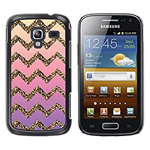 Design for Girls Plastic Cover Case FOR Samsung Galaxy Ace 2 Gold Bling Pattern Stripe OBBA
