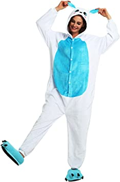 JYSPORT Disfraces de Conejo Adultos Unisex Cosplay Onesie Fleece ...