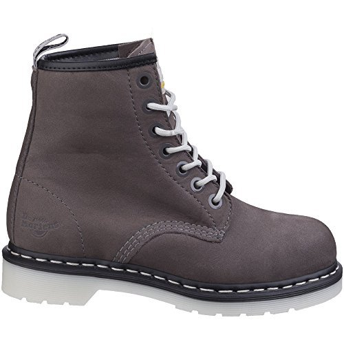 Dr. Martens Work Women's Maple Steel Toe 7-Eye Boot Grey 9 B UK B (M)