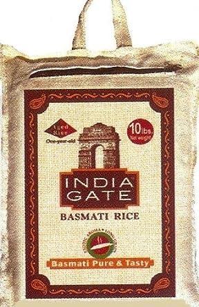 India Gate Arroz Basmati, 10-Pounds bolsas por la india Gate ...
