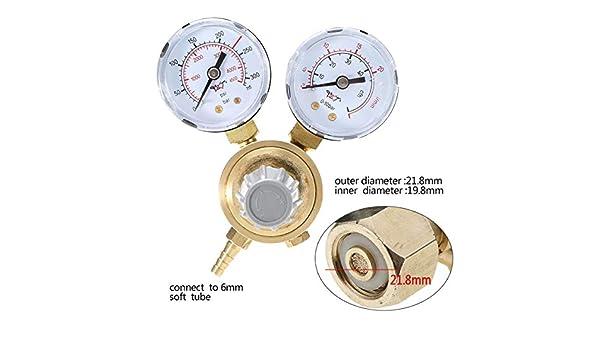 Flow Meters | 1pc Micro Argon CO2 Gauges Pressure Reducer Mig Gas Flow Meters Control Reducing Valve Dual Gauge Welding Regulator | by NAHASU: Amazon.com: ...