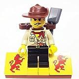 MinifigurePacks: Lego Adventurers - Desert Bundle (1) Johnny Thunder (1) Figure Display Base (2) Figure Accessories