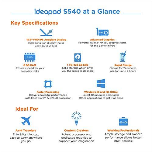 Lenovo Ideapad S540 8th Gen Intel Core I5 15.6 inch FHD Thin and Light Laptop ( 8GB/1TBHDD + 128GB SSD/Win 10/2GB MX250… 2