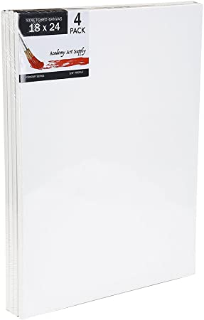18 X 24 Inch Stretched Canvas Value Pack of 4