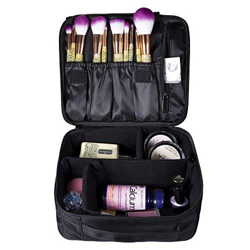 Portable Makeup Cosmetic Bag Train Case Large Capacity Waterproof Organizer Bag by NATPLUS