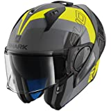 Shark Casco de moto Hark Evo-One 2 Slasher, mate, negro/amarillo/gris, talla M