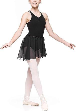 iiniim Vestido de Danza Niña Maillot Ballet con Falda Gasa Criss ...