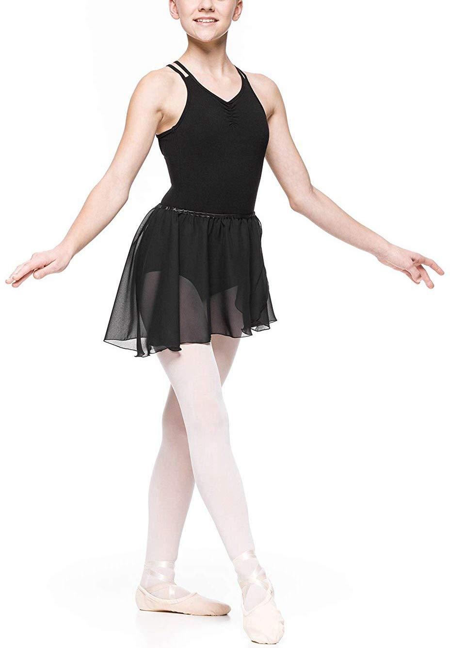 2d8f55210 iiniim Girls Team Basic Long Sleeve Sleeveless Leotard Tied Skirt ...