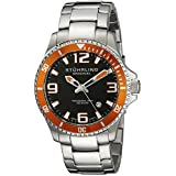 Stuhrling Original Men's 395.33I117 Aquadiver Regatta Champion Analog Swiss Quartz Silver Stainless Steel Link Bracelet Watch