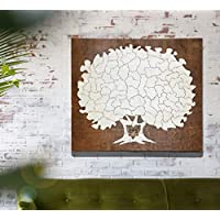 Bordered Elegant Tree Puzzle Guest Book Alternative | Wedding Guest Book