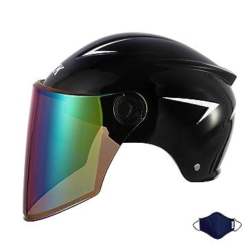 LTOOTA Casco Moto Demi Jet · Helmet Scooter Urban Motocicleta ...