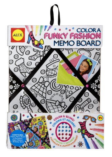Boards Esteem Bulletin Self (ALEX Toys Color a Bag & Accessories Color A Memo Board Funky Fashion)