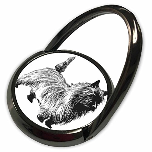 3dRose Florene Dog - Sketch Of Cairn Terrier Dog - Phone Ring (phr_61969_1)