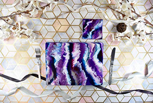 - Abstract Purple Placemats and Drinks Coasters