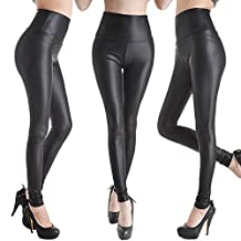 CFR Lady Vogue Faux Leather Jeggings High Waist Leggings Pants 7Colors USPS Post