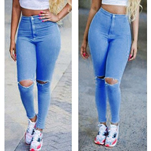 new release new product hot products Chinatera Femme Sexy Jeans Pantalon en Denim Genoux Troué ...