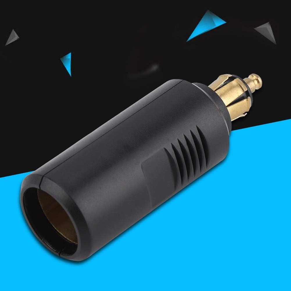 Adapter f/ür Europa-Zigarettenanz/ünder mit 12 Volt Lenker f/ür DIN Buchse