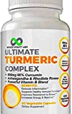 Turmeric Curcumin Complex 95% Curcuminoids With Bioperine & Extra Strength Adaptogens for Joint Pain Relief, Anti-Inflammatory & Antioxidants – Ashwagandha, Rhodiola Rosea, Ginger & Powerful B-Vitamin