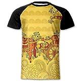 steelers toaster - Newfood Ss Traditional Ethnic Ornamental Icon Culture Bohemian Zen Spiritual Design Men's Short Sleeve Raglan T L