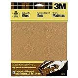 3M Garnet Sandpaper, 9-Inch x 11-Inch, Assorted-Grit, 5-Sheet
