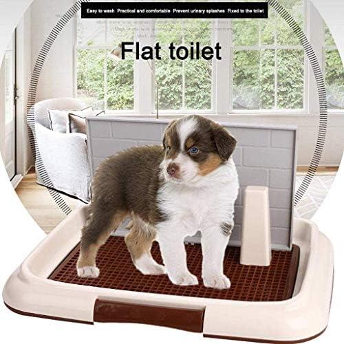 ペット用品屋内ペットトレーニングパッドトイレ壁と柱犬用トイレポータブルリタートレイアンチスプラッシュトイレWC(色:ピンク、サイズ:S)