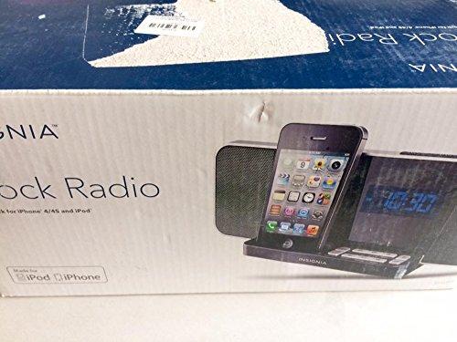 Insignia NS-CLIP02 AM/FM Digital Alarm Clock Radio iPod iPhone 4/4s Dock (Iphone 4s Dock Radio)