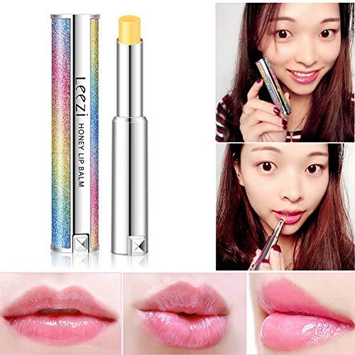 Jelly Temperature Change Lipstick, Starry Sky Rainbow Shell Moisturising Long-lasting Honey Lip Balm Cosmetics