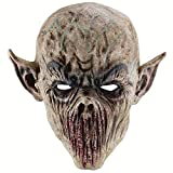 Labeol Scary Bloody Chef Mask Halloween Costume Masquerade Party Props for Adults (Grey)