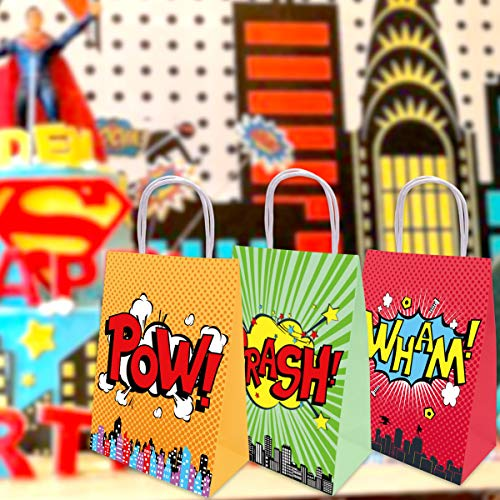 Superhero Bags Party Favor Birthday Decoration Gift Bags 18Pcs Fancy Land