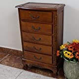 Majestic Jewelry Chest made of Carved Hardwood