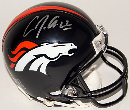 C.J. Anderson Signed Denver Broncos Mini - Mall Lakewood