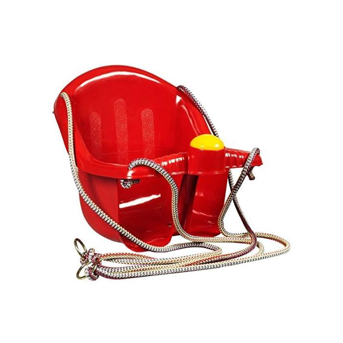 51qCO0bCz4L El asiento es fácil de instalar, suspendido por cuerda resistente Viene con un cuerno de plástico en la parte delantera Tiene una parte superior más alta para el apoyo