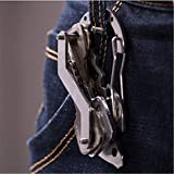 TraveT Stainless Outdoor Multi-Function Key Ring Survival Life-Saving