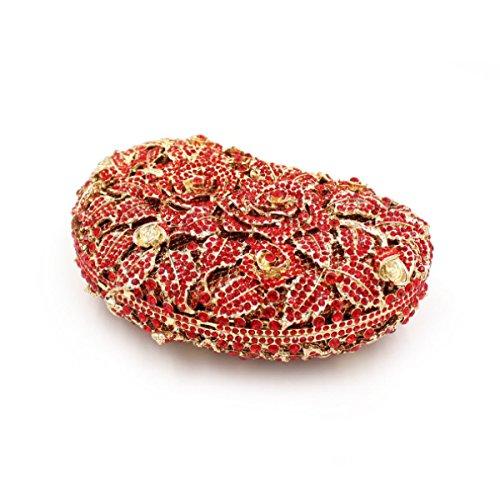 Soirée Diamant Qualité De En Haute Sacs Red Femmes Main à Sacs Cristal De w6qWEPS