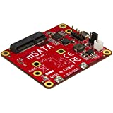 StarTech.com PIB2MS1 USB to Mini Sata Adapter for Raspberry Pi, Red