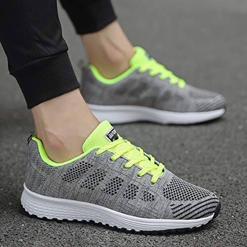Green Lightweight Sneakers Women Walking QZBAOSHU Men Shoes Y7F6qFvH