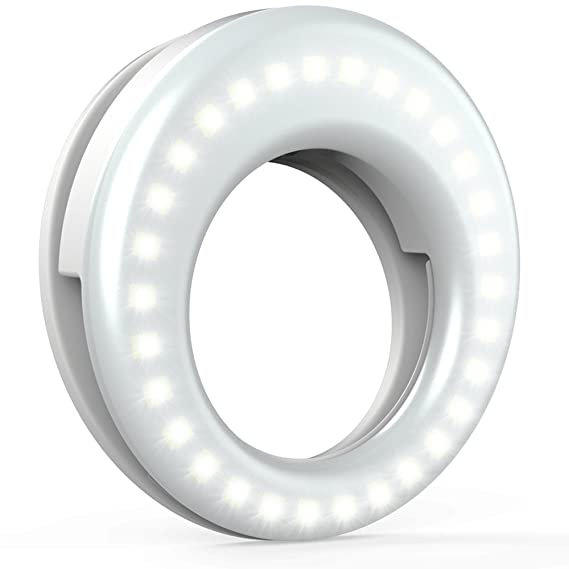 d2232ea0baf Image Unavailable. Image not available for. Color: QIAYA Selfie Light Ring  Lights LED ...