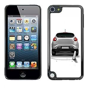 Carcasa Funda Prima Delgada SLIM Casa Case Bandera Cover Shell para Apple iPod Touch 5 / Business Style Funny Saw Car Prank Hole
