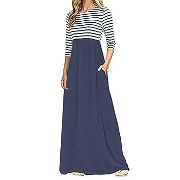 Mujer vestido largo Bohemian estilo ropa de playa Otoño,Sonnena Mujer estampado floral vestido largo