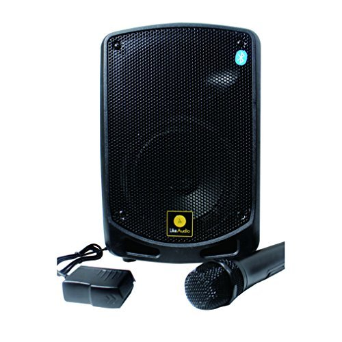 Wireless Battery Powered Pa System (Pyle Bluetooth Karaoke PA Speaker - Indoor / Outdoor Portable Sound System with Wireless Mic, Audio Recording, Rechargeable battery, USB / SD Reader, Stand Mount - For Party, Crowd Control - PSBT65A)