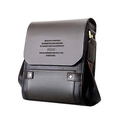 3c6d101b0006a Mioy Vintage Umhängetasche herren Schultertasche Klein Handtasche Messenger  Bags Herrentasche Leder Mini Ledertasche Crossbody Tasche (