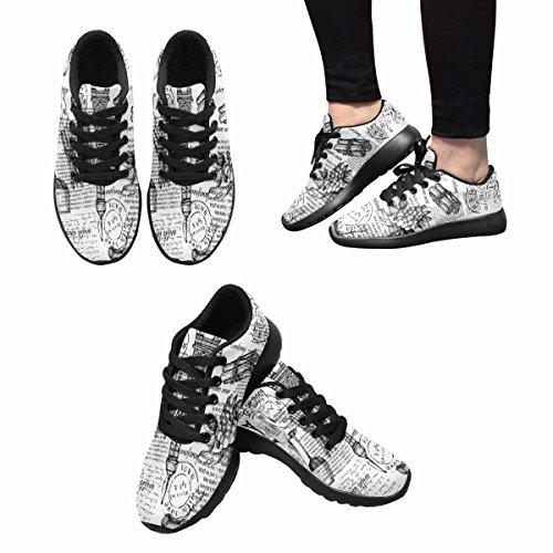 Interestprint Kvinner Jogging Kjører Sneaker Lettvekts Gå Gang Uformell Komfort Joggesko Eiffeltårnet, Paris, Frankrike Multi 1