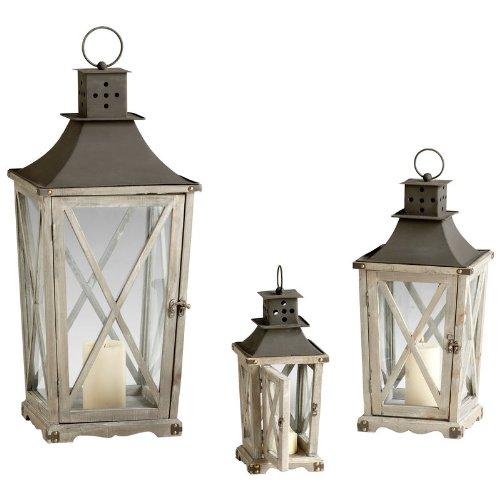 Cyan Design Cornwall Lanterns Candle Holders 3 Piece