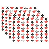 WARMFM Ethel Ernest Amazing Poker Cards Pattern Heat-resistant Placemats, Polyester Tablemat Place Mat for Kitchen Dining Room Set of 4