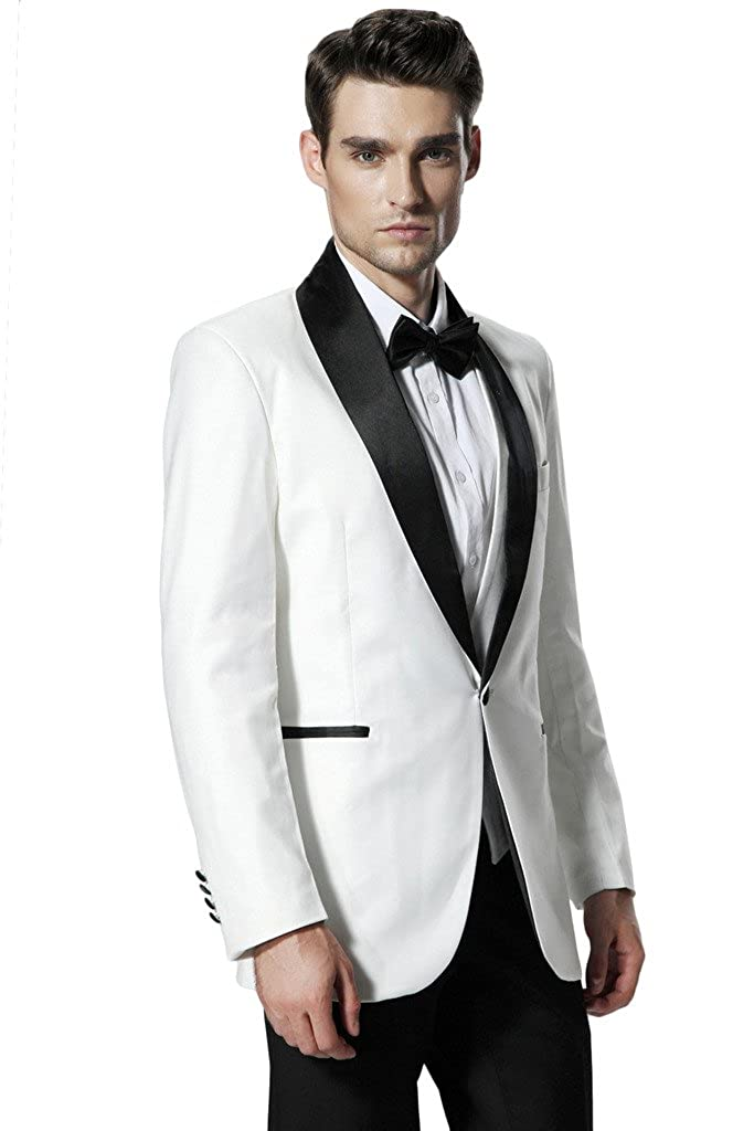 Hanayome Men's New Arrival 2015 Two Pieces Trim Fit Blazer Tuxedo & Trousers D345 D345A01